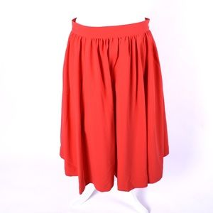 esley red midi skirt size large